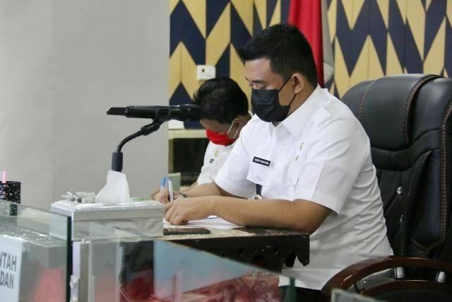 Rakornas Penanggulangan Bencana Tahun 2021, Wali Kota Medan Hadiri secara Virtual