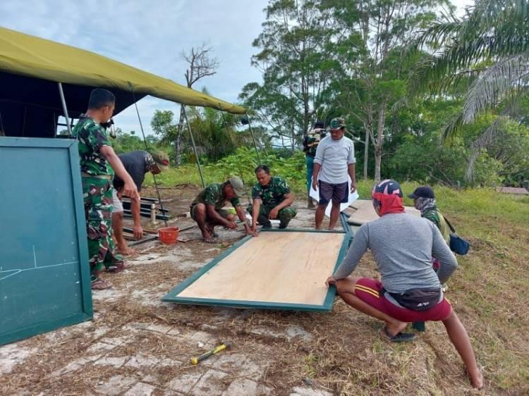 Satgas TMMD Boven Digoel Dirikan Posko Terpadu di Distrik Kawagit