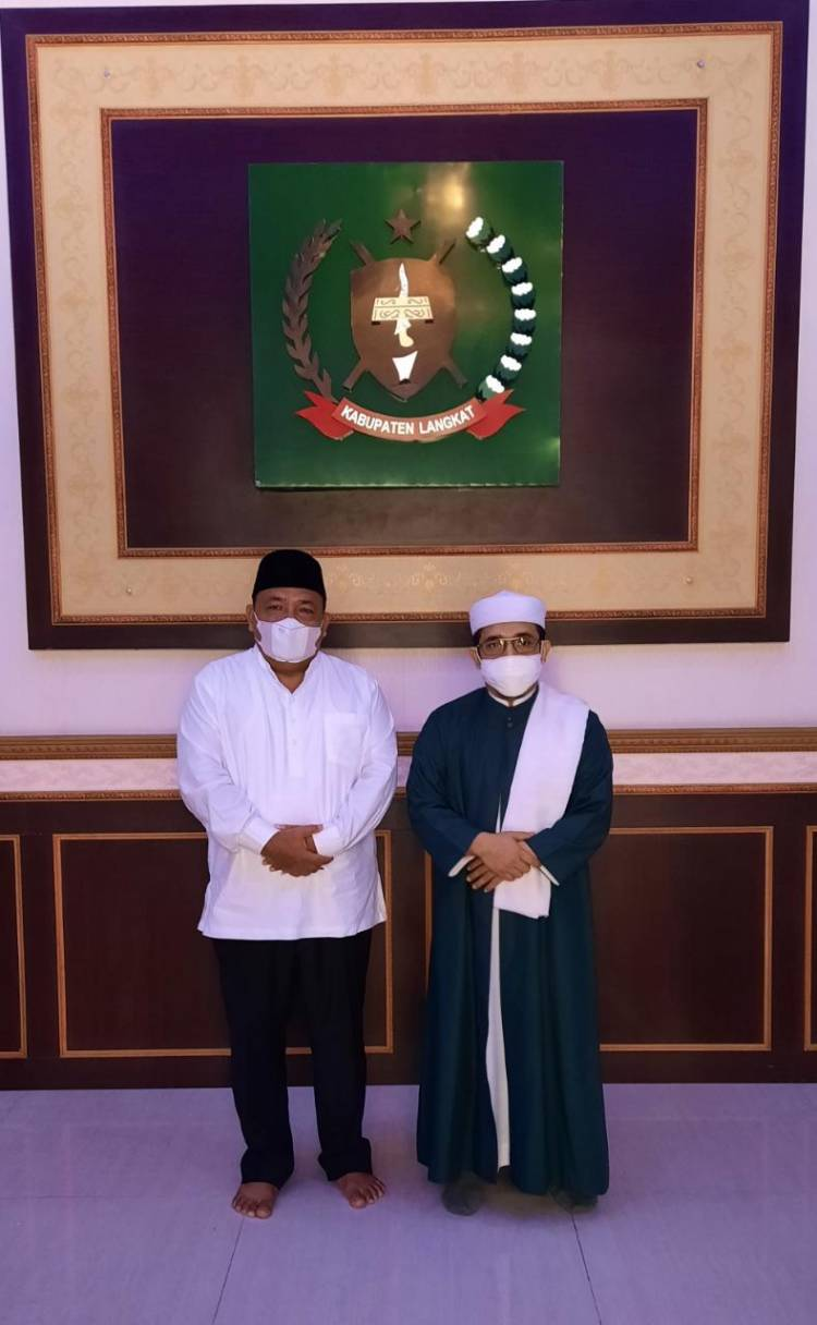 Bupati Langkat Bersilaturahmi dengan Tuan Guru Babusalam dan Alim Ulama,