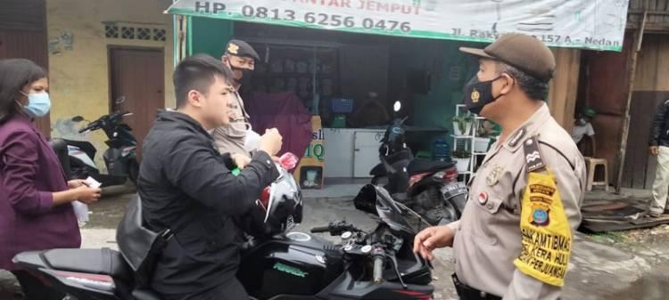 Polsek Medan Timur Imbau Warga Terapkan Prokes
