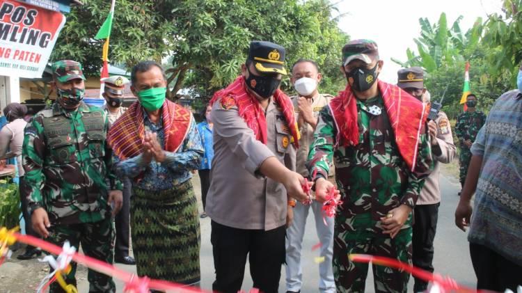 Bersama Dandim 0204/DS, Wakapolresta Deli Serdang Resmikan Kampung Tangguh Nusantara