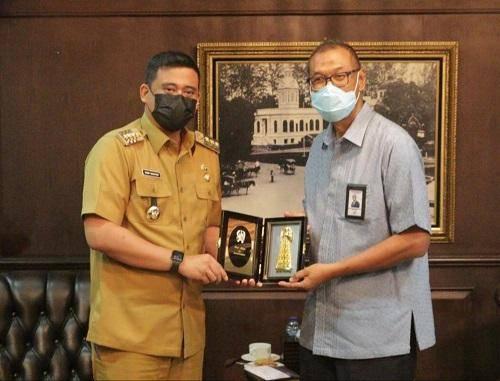 Bobby Nasution Terima Audiensi Dirut Bank Sumut, Dana CSR Akan Benahi Kawasan Heritage di Kesawan