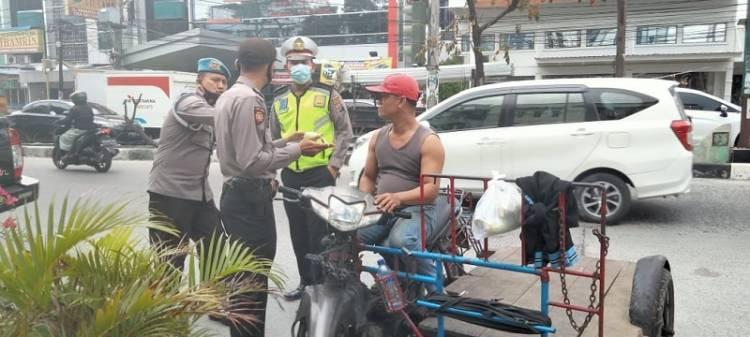 Polsek Medan Timur Ajak Warga Terapkan Prokes di Wilayah Hukumnya