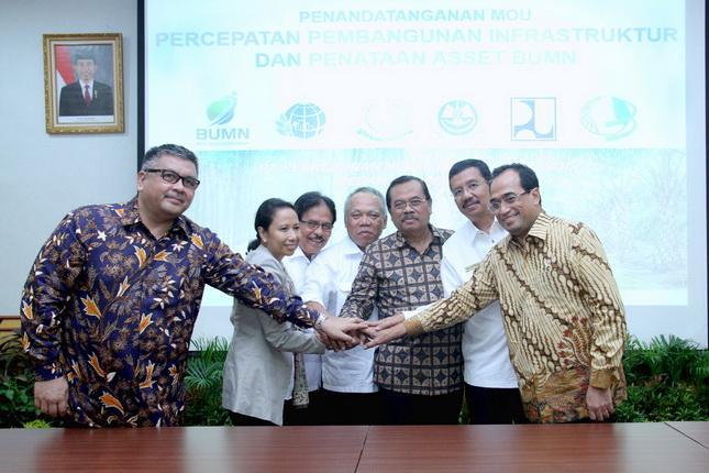 Teken MoU di Medan, Empat Menteri dan Jaksa Agung Sepakat Percepat Pembangunan Infrastruktur dan Penataan Aset BUMN