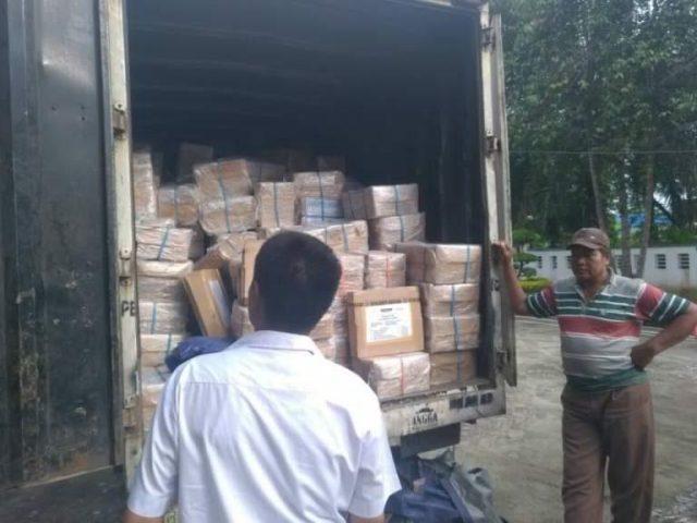 480 Kotak Naskah UN SMP/MTs Tiba di Disdik Deli Serdang
