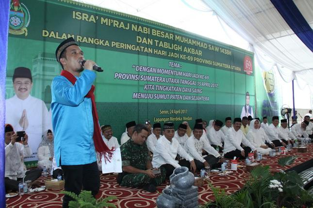 Tangis Haru Warnai Tabligh Akbar HUT Provinsi Sumut ke-69
