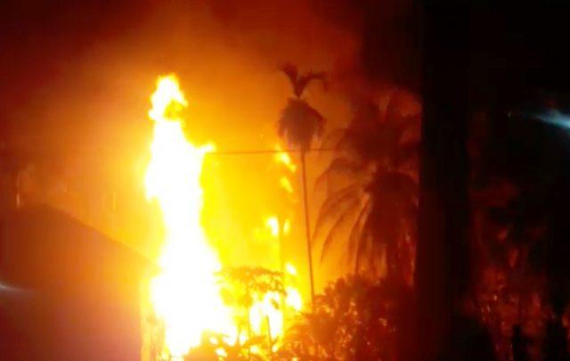 Kebakaran di Sumur Minyak di Perlak Aceh Timur, 15 Orang Meninggal, 43 Orang Luka Berat