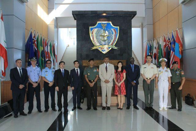 Komandan PMPP TNI Terima Kunjungan Delegasi Mabes PBB dan Jepang