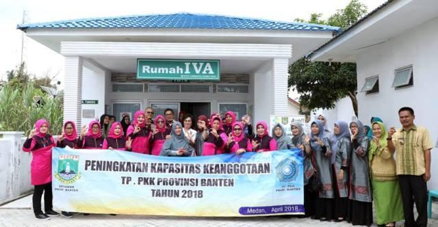 Belajar Pencegahan Kanker Serviks, TP PKK Propinsi Banten Kunjungi TP PKK Kabupaten Asahan