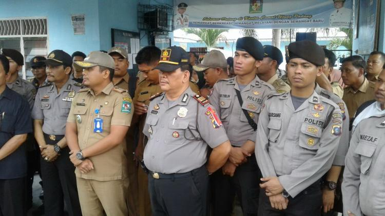 Polres Simalungun Laksanakan Pengamanan Aksi Unjukrasa Masyarakat Ujung Padang