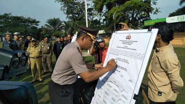 Polres Deli Serdang Lakukan Deklarasi Pembangunan Zona Integritas