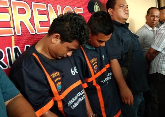 Sat Reskrim Polres Labuhanbatu Ringkus 2 Tersangka Residivis Pelaku Curas