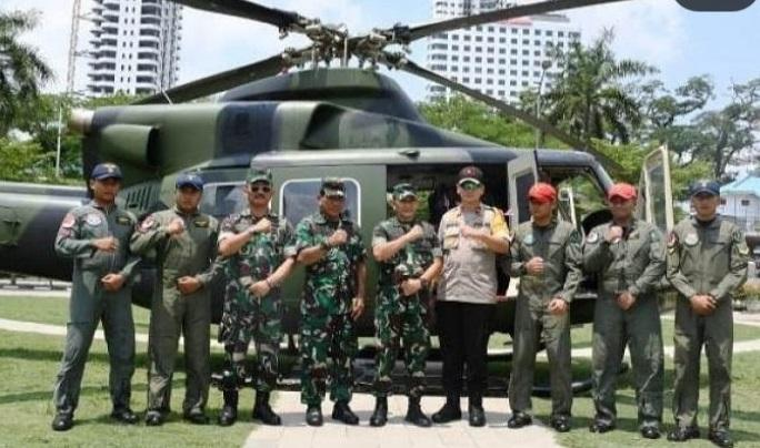 Patroli Cipta Kondisi Pemilu 2019, Kapoldasu dan Pangdam I/BB Kelilingi Kota Medan dan Binjai