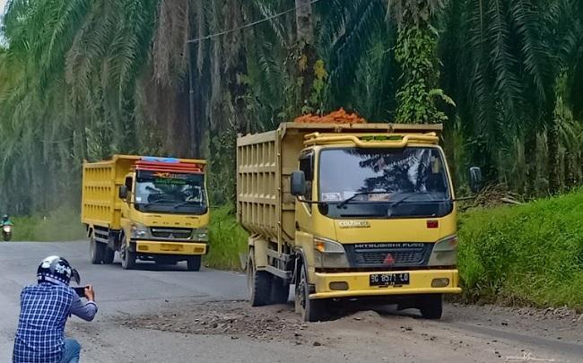Jalan Rusak, Dinas PU dan Dinas Perhubungan Labuhanbatu Diminta Cek Truk Pengangkut Material Proyek Jalur KA