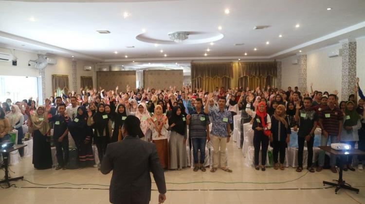 Cara Senang dan Gampang Belajar Bahasa Inggris - Global Vibe Inspiration Sukseskan Seminar Bahasa Inggris di Batubara dan Asahan