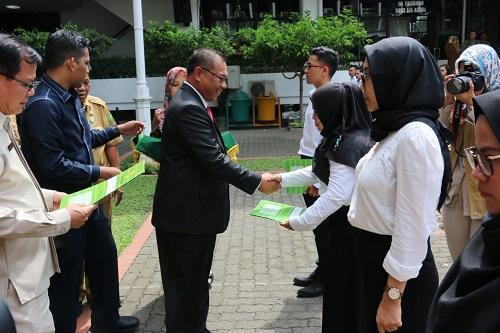 198 CPNS Pemko Medan Terima SK Pengangkatan CPNS