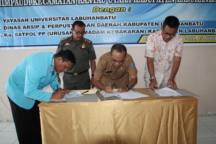 Dinas Perpustakaan dan Kearsipan Kabupaten Labuhanbatu Tandatangani MoU dengan HIMPAUDI
