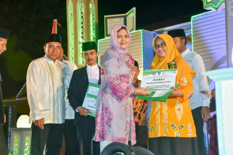 Penutupan STQH XVI Tingkat Provinsi Sumut, Gubernur Ajak Bupati/Walikota Berlomba Lakukan Kegiatan Keagamaan