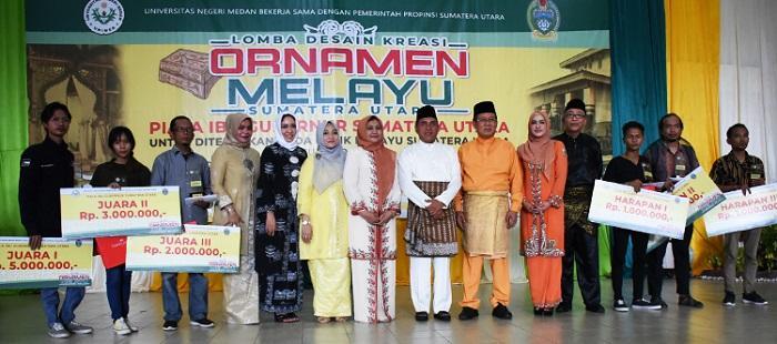 Unimed Himpun Ratusan Peserta di Perlombaan Desain Ornamen Melayu