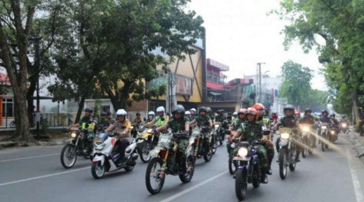 Polri dan TNI Patroli Skala Besar, Pastikan Pemilu 2019 di Sumut Aman