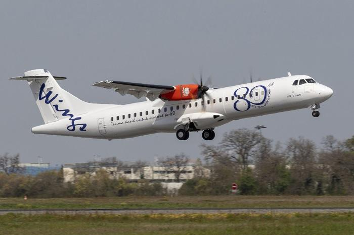Pesawat Baru Wings Air ATR 72-600 Test Flight di Toulouse Blagnac, Perancis