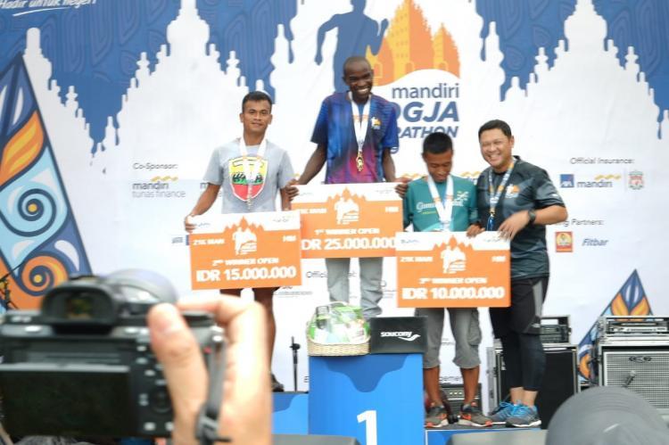 Prajurit Kodam I/BB Sabet Juara di Mandiri Jogja Marathon International 2019