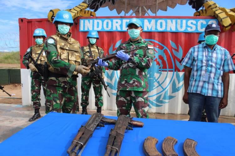 Pasukan Garuda Kembali Peroleh 3 Pucuk Senjata di Desa Lukengwe Kalemie Kongo
