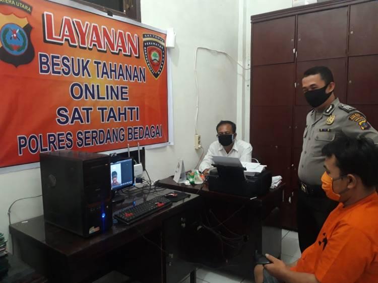 Dampak Covid-19, Polres Sergai Buka Layanan Besuk Tahanan secara Online