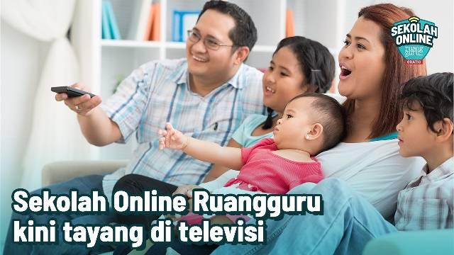 Materi Belajar Sekolah Online Ruangguru Kini Tayang di Kanal Televisi RTV