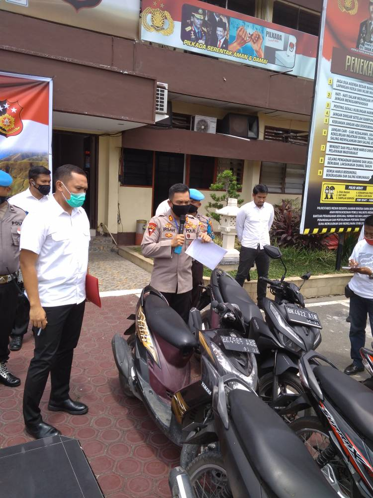 Kelompok Geng Motor Disergap Polrestabes Medan, 23 Sepeda Motor Diamankan