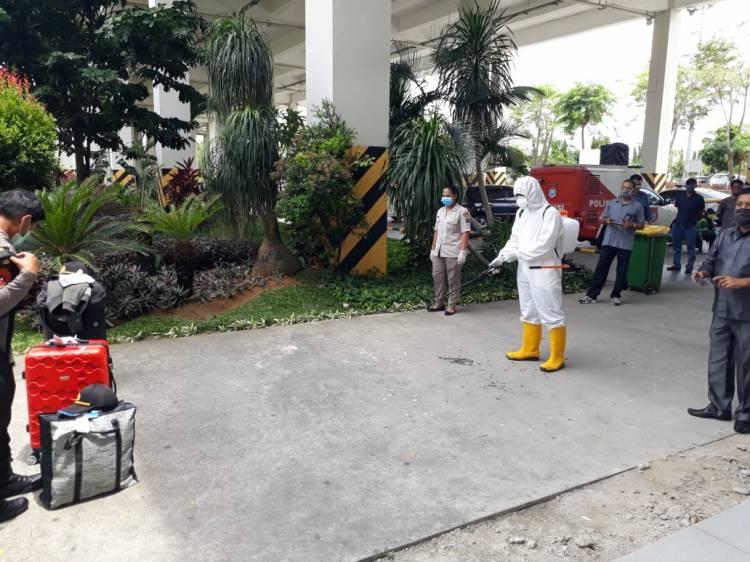 Tiba di Bandara Kualanamu, 35 Siswa Sekolah Inspektur Polisi Disterilisasi Bid Dokkes Polda Sumut