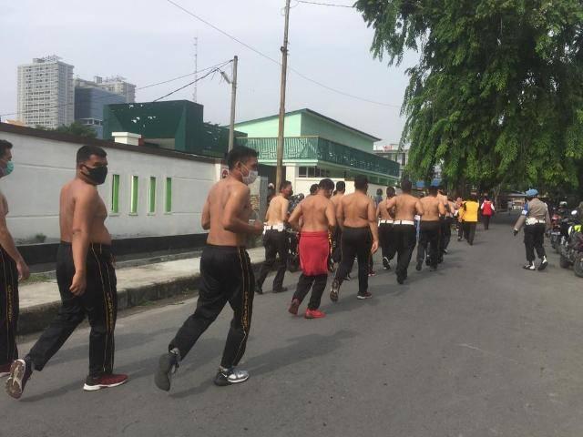 Satlantas Polrestabes Medan Olahraga Bersama Tingkatkan Pola Hidup Sehat
