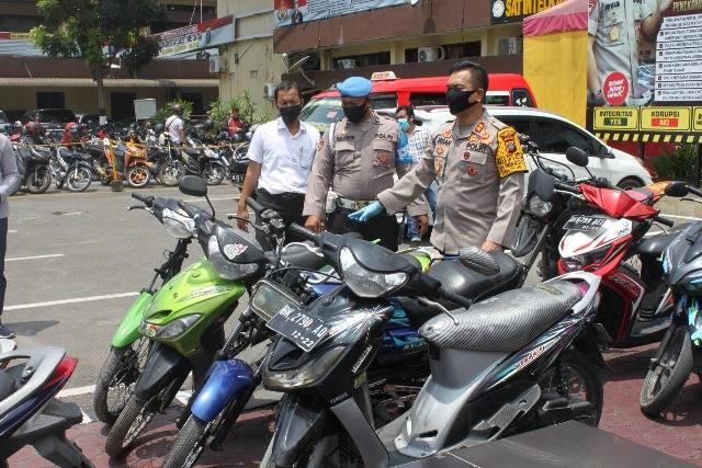 Razia Geng Motor di Kota Medan, Polisi Amankan 57 Pemuda dan 37 Kendaraan Roda Dua