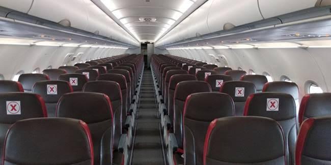 Lion Air Group Jalankan Pengaturan Sistem Jarak Aman di Dalam Kabin Pesawat