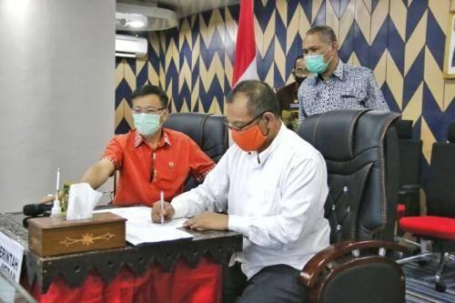Melalui Video Conference, BPK RI Perwakilan Provinsi Sumut Serahkan LHP Atas LKPD TA 2019 ke Pemko Medan