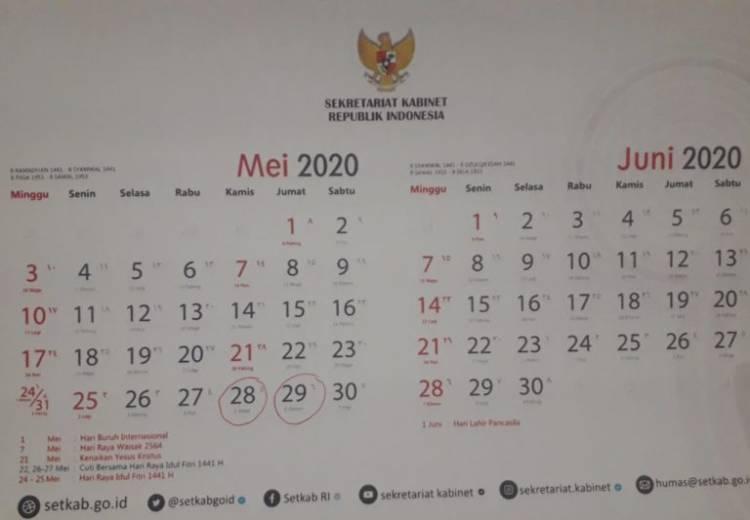 Tindak Lanjuti Hasil Ratas, Pemerintah Revisi Hari Libur dan Cuti Bersama 2020