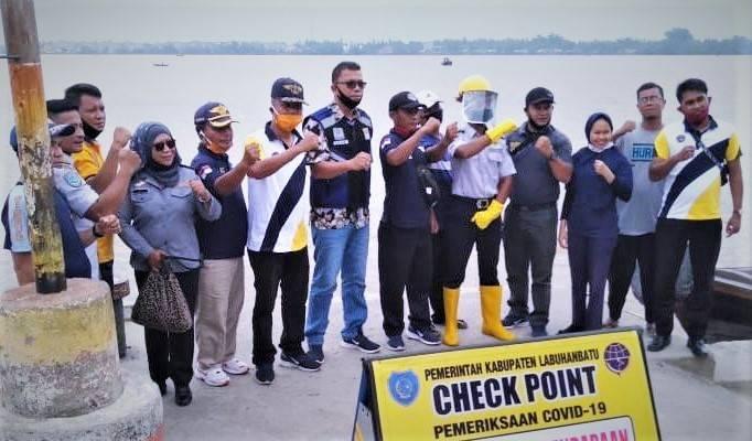 Antisipasi Covid-19, Dishub Lakukan Chek Point di Wilayah Pantai Labuhanbatu