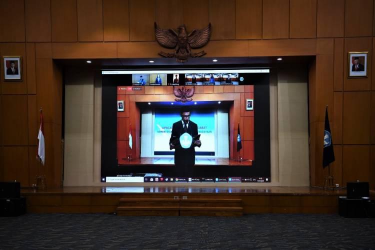 Cegah Penyebaran Covid-19, Pelantikan Pejabat Kemendikbud Dilakukan secara Daring