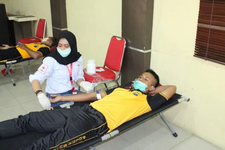 Peduli Covid-19, Kapolres Sergai Gelar Donor Darah