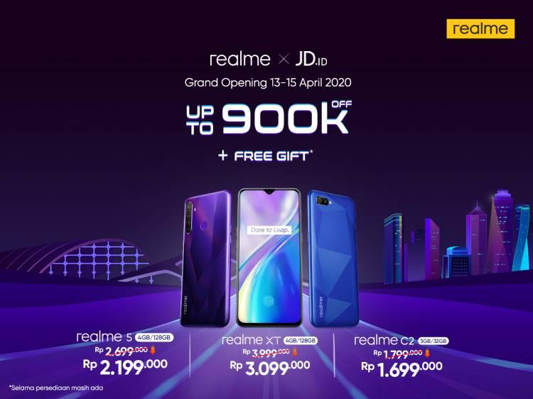 Realme Membuka Toko Resmi di JD.id dengan Penawaran Khusus Berupa Potongan Harga Hingga Rp 900.000