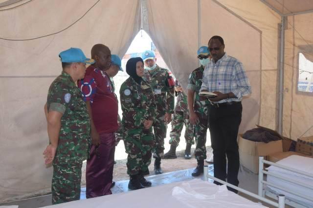 Perwakilan WHO Tinjau Kesiapan Ruang Isolasi Pasien COVID-19 Yang Didirikan Satgas RDB di Kongo