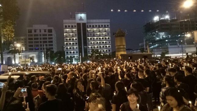 Komunitas Ahok di Medan Gelar Seribu Lilin di Lapangan Merdeka
