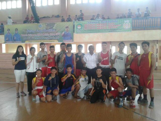 Kontingen Kota Medan Incar Juara di Kejurda Tinju Piala Gubsu