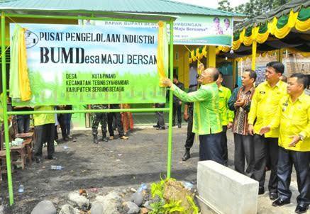 Bupati Sergai Resmikan BUMDes Maju Bersama di Desa Kuta Pinang