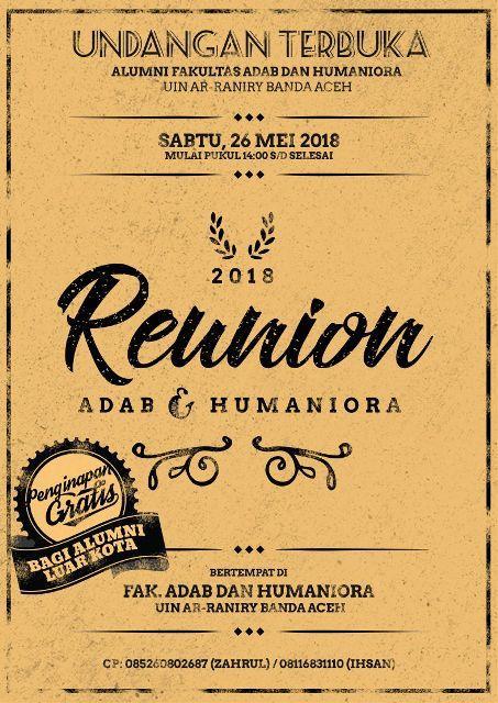 Reuni Akbar Alumni FAH UIN Ar-Raniry Digelar Besok