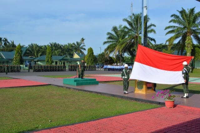 Danrem 022/Pantai Timur Pimpin Upacara Harkitnas 2018 di Pematang Siantar