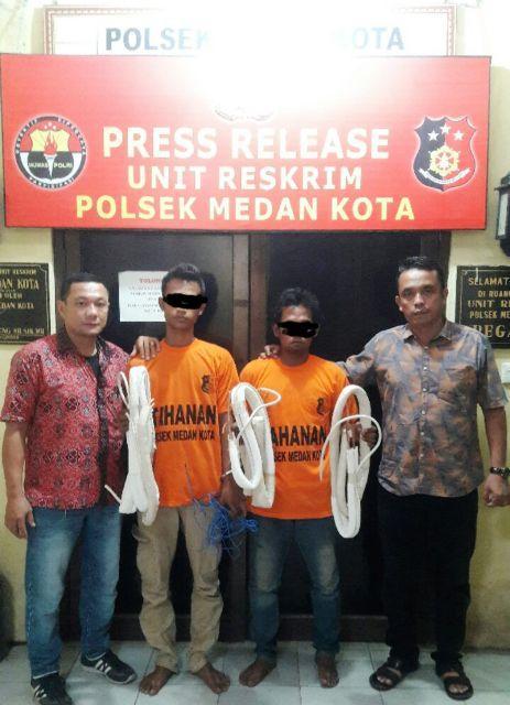 Terekam CCTV Saat Maling di Rumah Warga di Jalan Halat, Ikbal dan Joko Diringkus Polisi