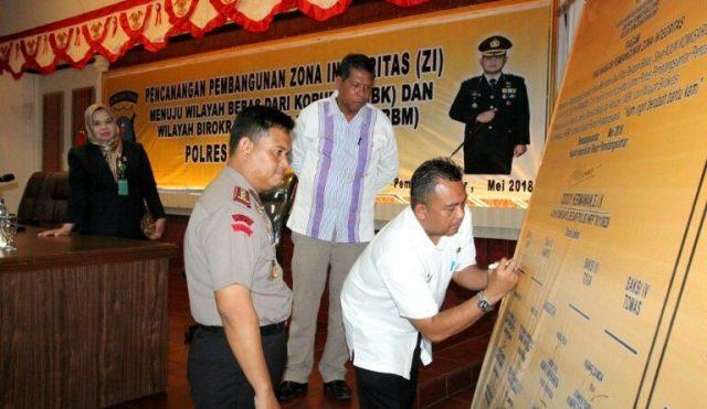 Polres Pematangsiantar Canangkan Pembangunan Zona Integritas Menuju Wilayah Bebas Korupsi