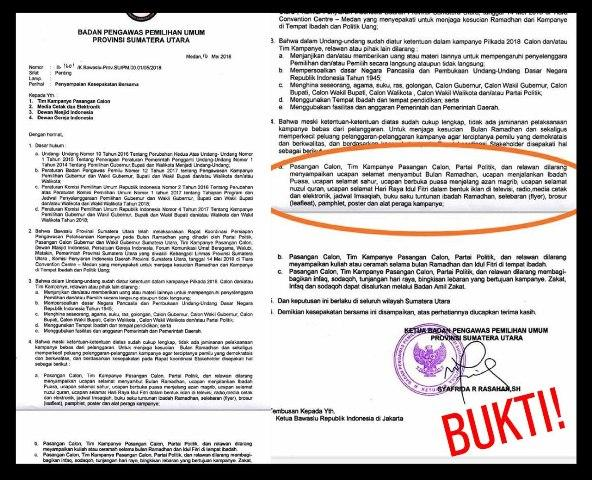 DPD Gerindra Sumut Protes Surat Edaran dari Bawaslu