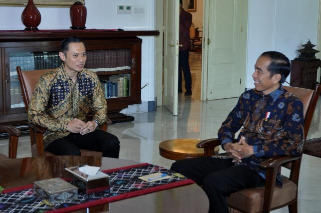 AHY Ucapkan Selamat Atas Kemenangan Presiden Jokowi